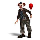 серия взволнованностей клоуна цирка смешная Стоковое фото RF