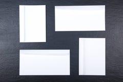 серия визитной карточки финансовохозяйственная Модель-макет корпоративных канцелярских принадлежностей установленный Прикройте те Стоковые Изображения