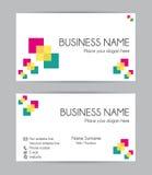 серия визитной карточки финансовохозяйственная Плоский дизайн Комплект II Стоковое фото RF