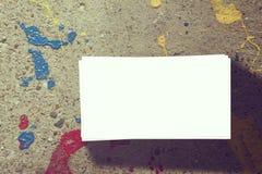 серия визитной карточки финансовохозяйственная Стоковое Фото