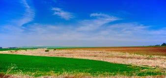 Серия Галилея Holyland fields панорама стоковое фото