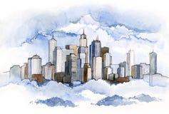 серия города c урбанская иллюстрация вектора