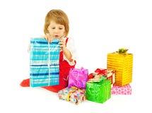 серия девушки подарков Стоковое Изображение