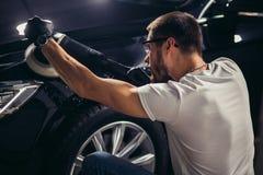 Серия детальных автомобилей: Полировать автомобиль Стоковое Изображение