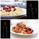 Серия еды итальянско Стоковые Изображения