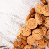 серия еды печений предпосылки Стоковая Фотография RF