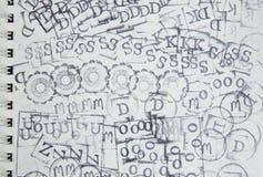 Серия значка избитой фразы на чистом листе бумаги Стоковое фото RF