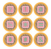 Серия значка корзины пакета значка вектора Стоковые Фото