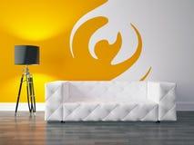 Серия дизайна интерьера: Современная живущая комната Стоковая Фотография RF