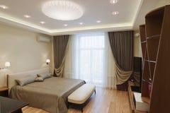 Серия дизайна интерьера славной уютной спальни Стоковое Изображение