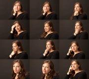 серия изображения девушки возмужалая Стоковая Фотография RF