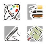 серия иконы искусства Стоковые Изображения RF