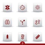 серия иконы медицинская Стоковые Изображения RF