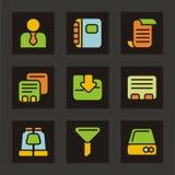 серия икон иконы базы данных цвета иллюстрация штока
