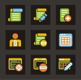 серия икон иконы базы данных цвета Стоковое Изображение