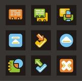 серия икон иконы базы данных цвета Стоковое Фото