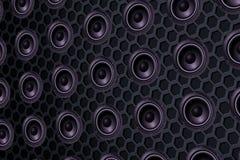 Серия дикторов громкоговорителя, безшовное влияние текстуры Стоковые Фотографии RF