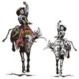 серия иллюстрации западная Стоковая Фотография