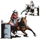 серия иллюстрации западная Стоковые Фотографии RF