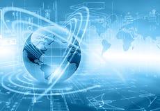 серия интернета руки самого лучшего глобуса принципиальных схем принципиальной схемы дела гловального накаляя Стоковые Фото