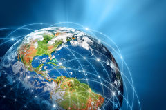 серия интернета руки самого лучшего глобуса принципиальных схем принципиальной схемы дела гловального накаляя Стоковое Изображение