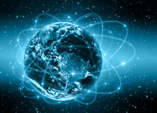 серия интернета руки самого лучшего глобуса принципиальных схем принципиальной схемы дела гловального накаляя Стоковые Изображения RF