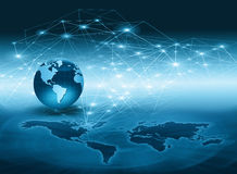 серия интернета руки самого лучшего глобуса принципиальных схем принципиальной схемы дела гловального накаляя Стоковое Изображение RF