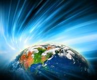серия интернета руки самого лучшего глобуса принципиальных схем принципиальной схемы дела гловального накаляя Элементы этого изоб Стоковые Фотографии RF