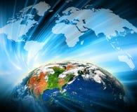 серия интернета руки самого лучшего глобуса принципиальных схем принципиальной схемы дела гловального накаляя Элементы этого изоб Стоковые Изображения RF