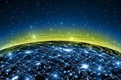серия интернета руки самого лучшего глобуса принципиальных схем принципиальной схемы дела гловального накаляя Элементы этого изоб Стоковые Фото