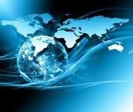 серия интернета руки самого лучшего глобуса принципиальных схем принципиальной схемы дела гловального накаляя Элементы этого изоб Стоковое фото RF
