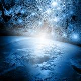 серия интернета руки самого лучшего глобуса принципиальных схем принципиальной схемы дела гловального накаляя Элементы этого изоб Стоковое Фото
