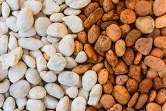 Серия камешков вокруг большого камня Стоковая Фотография RF