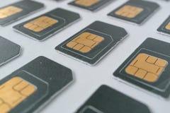 Серия карточек телефона SIM Стоковое фото RF