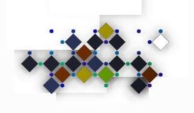 Серия квадратов в современном арабском составе Стоковая Фотография RF