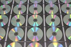 Серия компакт-диска КОМПАКТНОГО ДИСКА в пластичных случаях Стоковое Изображение RF