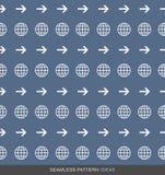 Серия 01 концепции картины глобального бизнеса безшовная иллюстрация штока