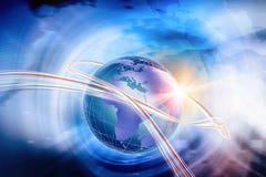 Серия 445 концепции предпосылки взаимодействия мира цифров Стоковое Изображение RF