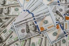 Серия 100 концов-вверх долларовых банкнот деньги серии Стоковые Фотографии RF