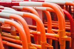 Серия красных барьеров улицы Стоковое фото RF