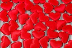 Серия красных сердец Стоковая Фотография