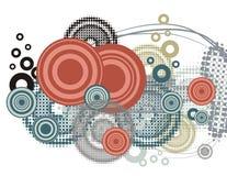 серия круга предпосылки Стоковое Изображение RF