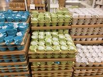 Серия кружки кофе для продажи Стоковое фото RF