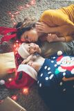 Серия любов в Рождествах стоковые изображения