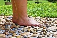 серия массажа в 01 ногу Стоковое Изображение RF