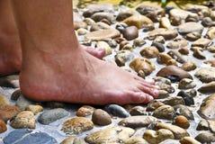 серия массажа в 01 ногу Стоковые Фото