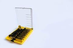 Серия малой отвертки установила для затягивать электронику Стоковое Изображение RF