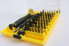 Серия малой отвертки установила для затягивать электронику Стоковая Фотография RF