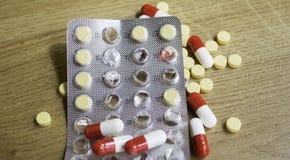 Серия медицинских пилюлек Стоковое фото RF