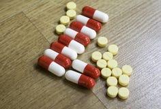 Серия медицинских пилюлек Стоковые Фотографии RF